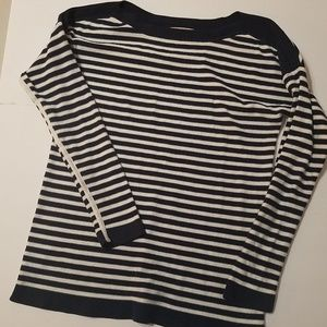 Striped Sweater Gap Boatneck Navy White Size Large